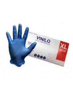 GUANTE VINILO4 EXTRA GRANDE AZUL P/100