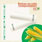 N U E V O 🧡 Ya tenemos disponibles bolsas en rollo 100% compostables. Fabricadas a partir de almidón de maíz. www.canpaplas.con #Canpaplas #tuempresacanaria #novedad #bolsas #bolsascompostables #compostable