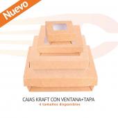 CAJAS KRAFT + TAPA CON VENTANA Nuevas cajas de cartón con tapa. Interior con tratamiento antigrasa. Ideales para take away. ¡4 tamaños disponibles!  👉🏼 www.canpaplas.com   #Canpaplas #empresacanaria #envases #envasedecarton #cajadecarrón #cajaconventana #reciclable #takeaway