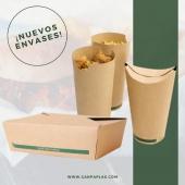 Nuevos formatos de envases para llevar, especiales para fritos. Toda la info en 👉🏼www.canpaplas.com  #Canpaplas #tuempresacanaria #novedades #cartón #cajasamericanas #vasofritos #petacafritos #reciclable #parallevar #takeaway #delivery
